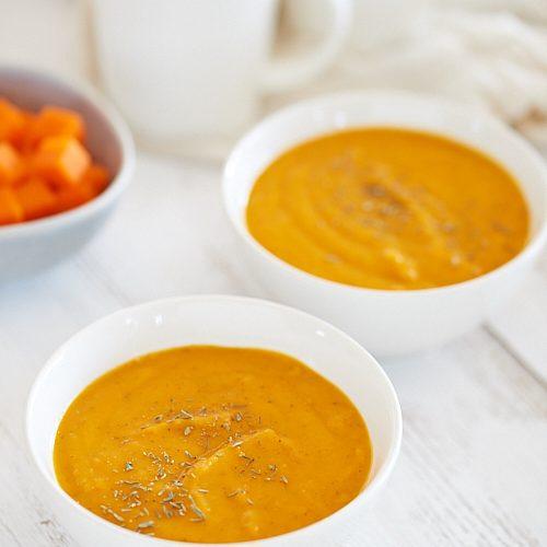 recette de Soupe de carotte, pomme et pomme de terre