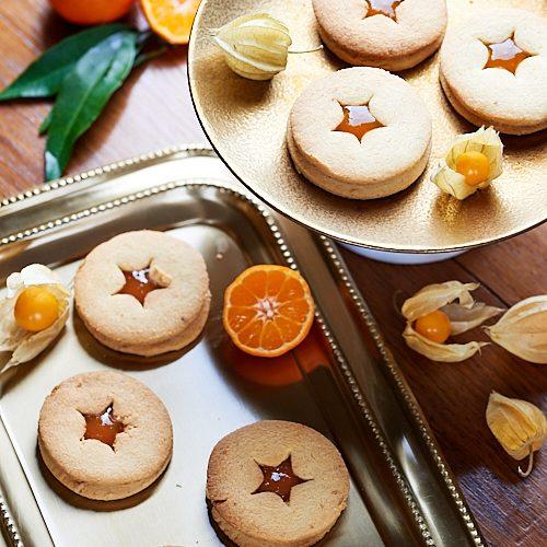 recette de biscuits Linzer à la confiture de mandarine