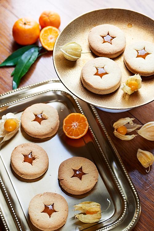 biscuits linzer mandarine