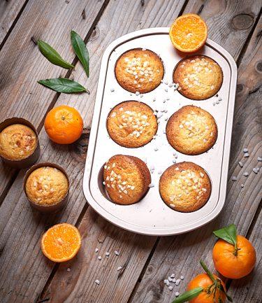 recette de petits cakes aux jaunes d'oeuf et à la mandarine