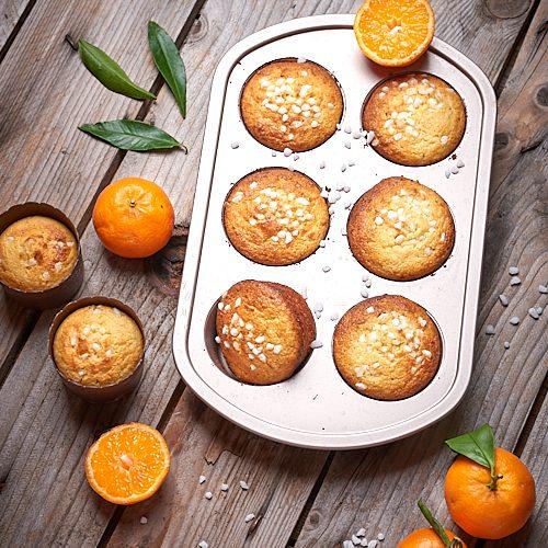 Petits cakes aux jaunes d'oeuf et à la mandarine