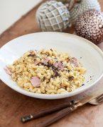 recette de coquillettes à la truffe et au jambon