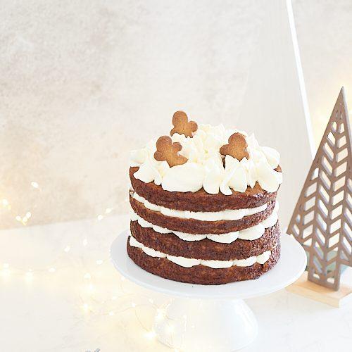 Layer cake de Noël aux pommes et aux épices