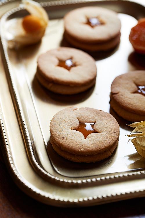 Photo culinaire de Biscuits Linzer à la confiture d'abricot