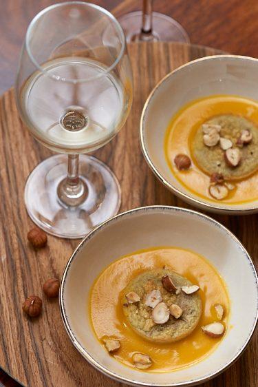 recette de Royale de châtaigne et crème de butternut