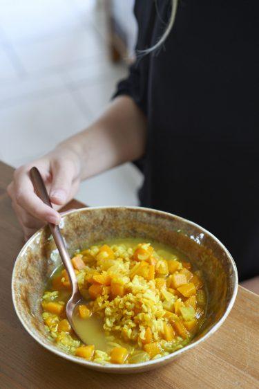 recette de Soupe d'automne au riz et légumes de saison