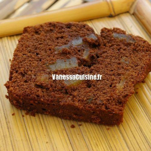 recette de cake au chocolat et gingembre confit