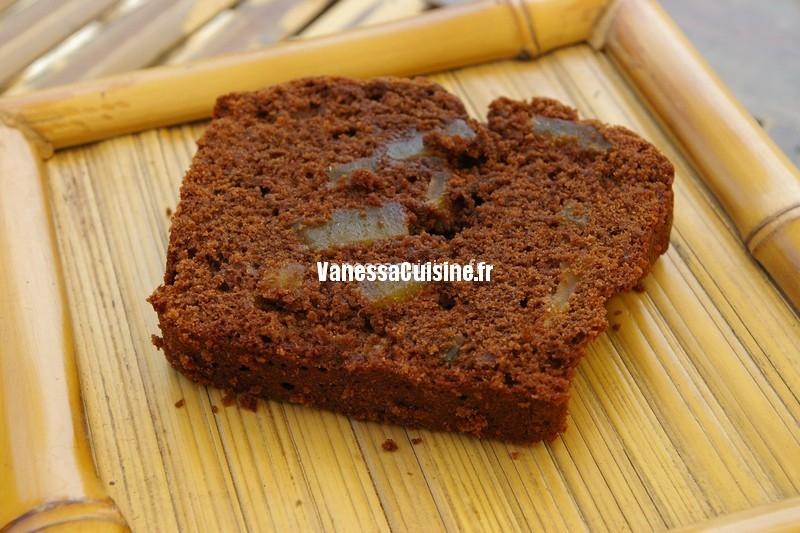 recette de Cake chocolat et gingembre confit