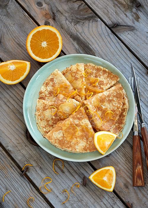 recette des crêpes Suzette faciles et sans gluten