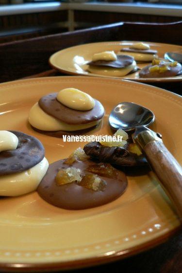 recette de Mille-feuille chocolat au lait et crème au citron