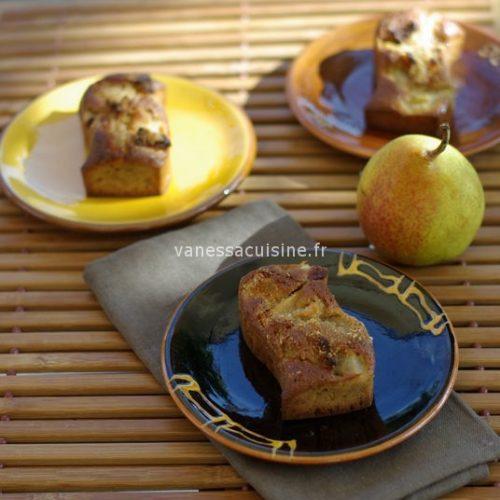 recette de petits cakes aux poires
