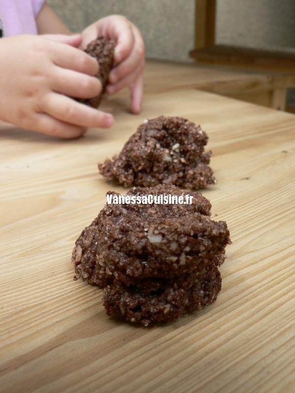 recette de Rochers amandes chocolat
