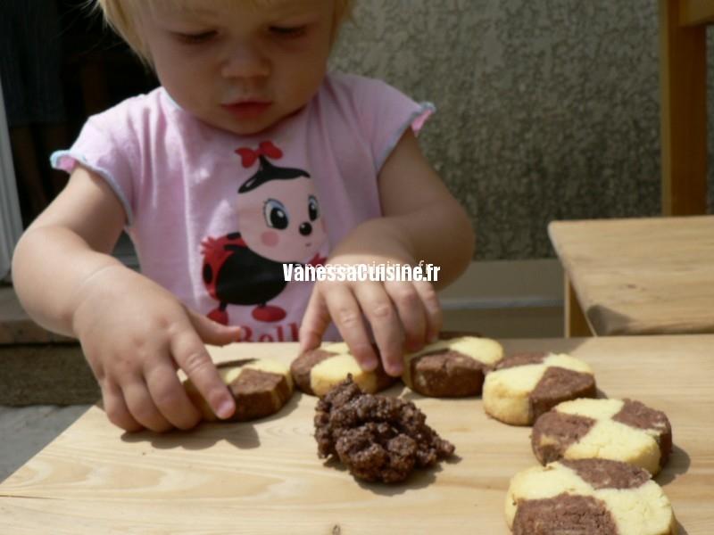 recette de Sablés bicolores vanille chocolat