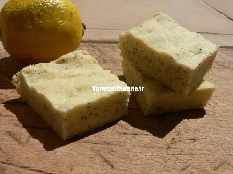 Shortbreads citron pavot