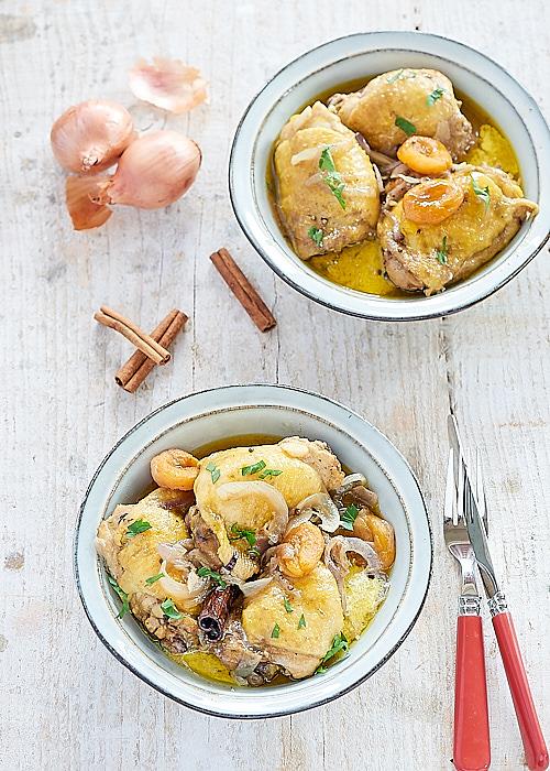photo culinaire de Tajine de poulet aux abricots