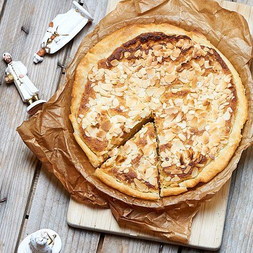 recette de tarte à la crème d'amande