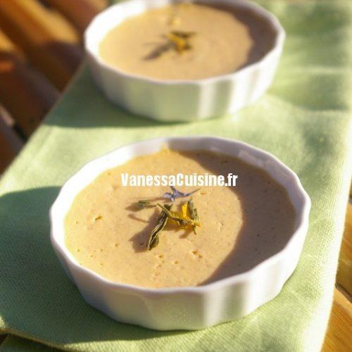 Crèmes de patate douce et bergamote