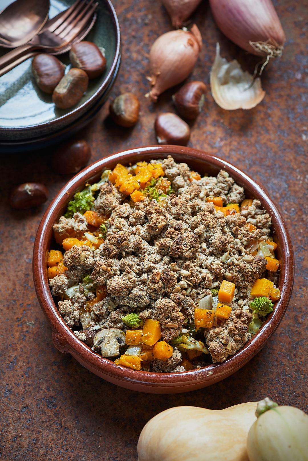 Photo culinaire de Crumble de légumes d'hiver