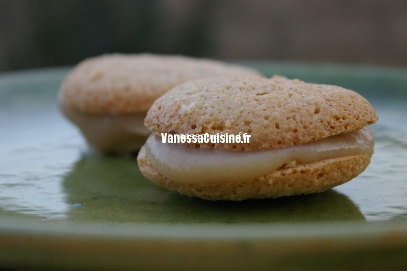 recette de Macarons à la crème de marron et chocolat blanc
