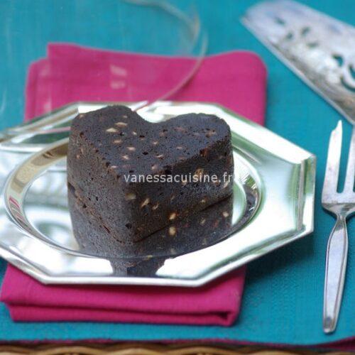 recette de Moelleux au chocolat et sésame noir, pépites de chocolat blanc