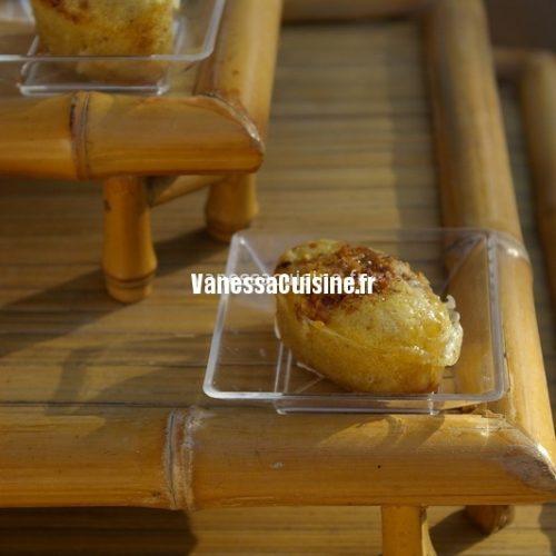 recette de Muffins vanille et chocolat blanc au pralin