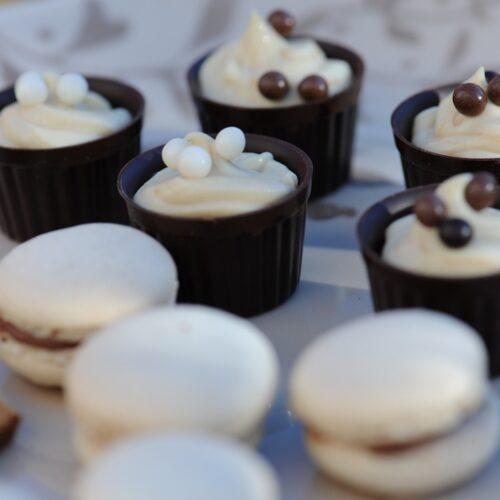 recette de Coques de chocolat et ganache légère au café