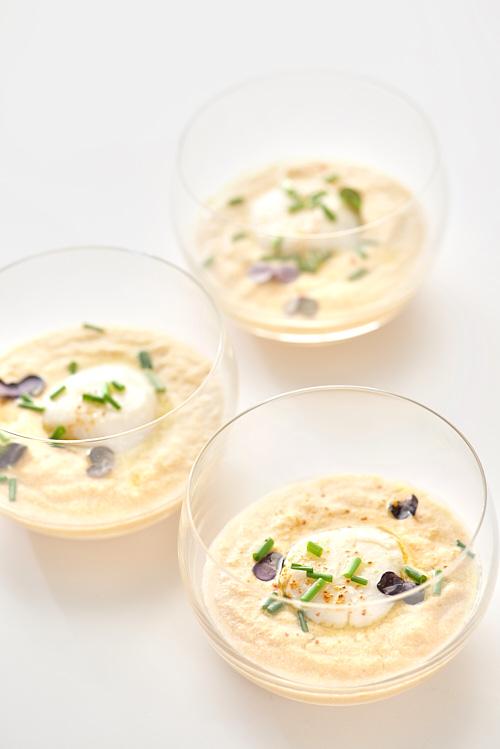 photo culinaire de Crème de corail de Saint-Jacques
