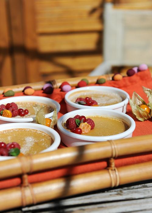 recette de Crèmes à l'orange et au miel