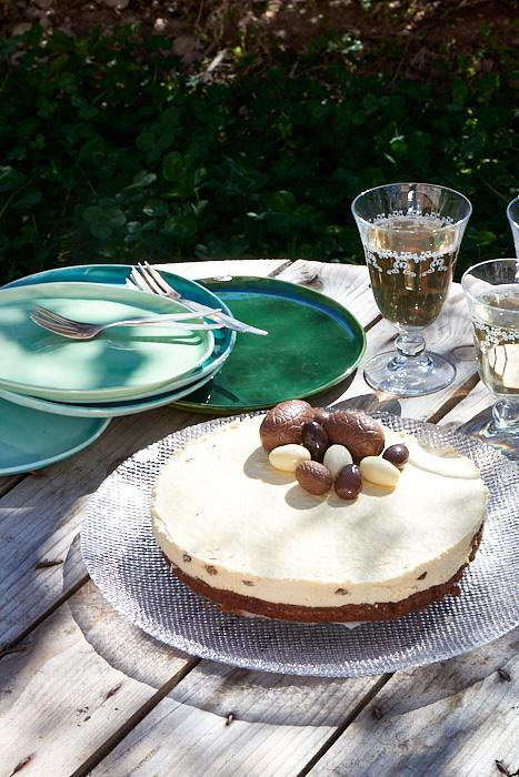 Photo culinaire de Brownie et crème diplomate au rhum