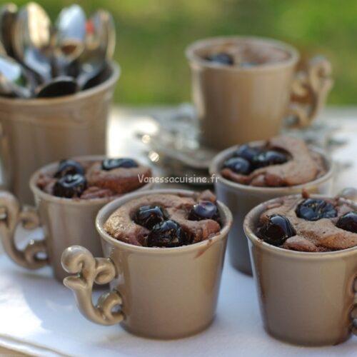 recette de gâteaux au chocolat et cerises amarena