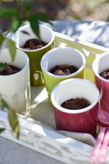 recette de Mousses cuites au chocolat