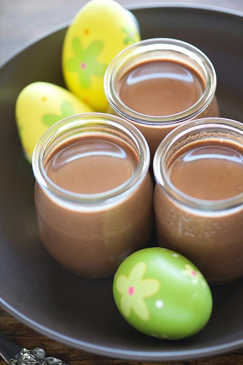 recette des Pots de crème au chocolat et lait de coco