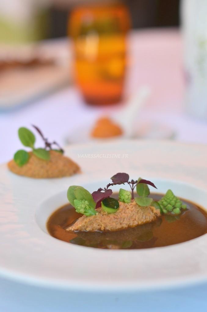 rillette de tourteaux et soupe detrilles le jardin de sebastien vanessa romano photographe et styliste culinaire