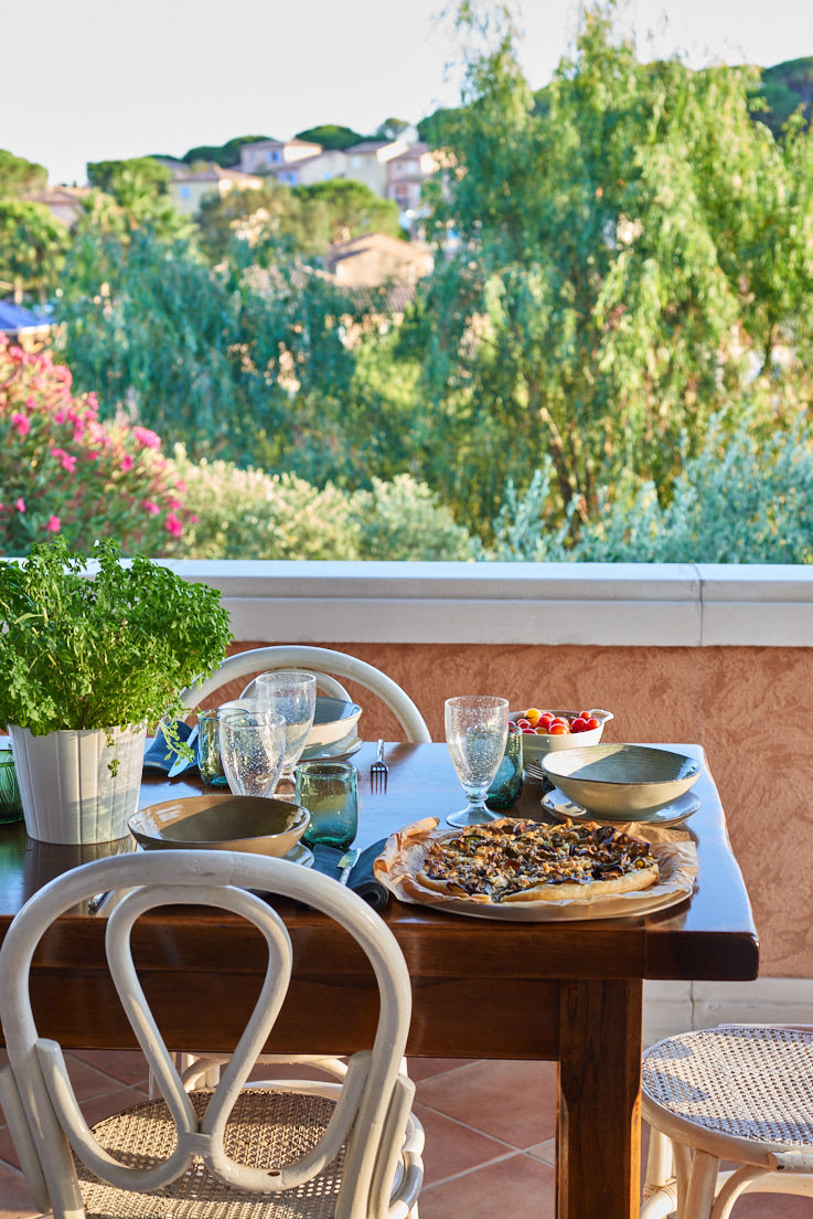 recette de Tarte fine aux légumes rôtis et féta