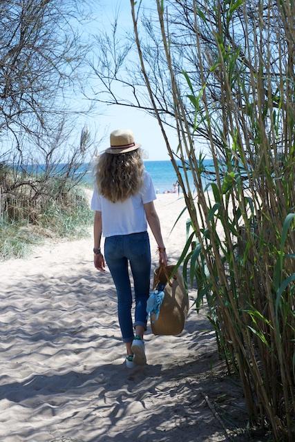 arrivee sur la plage