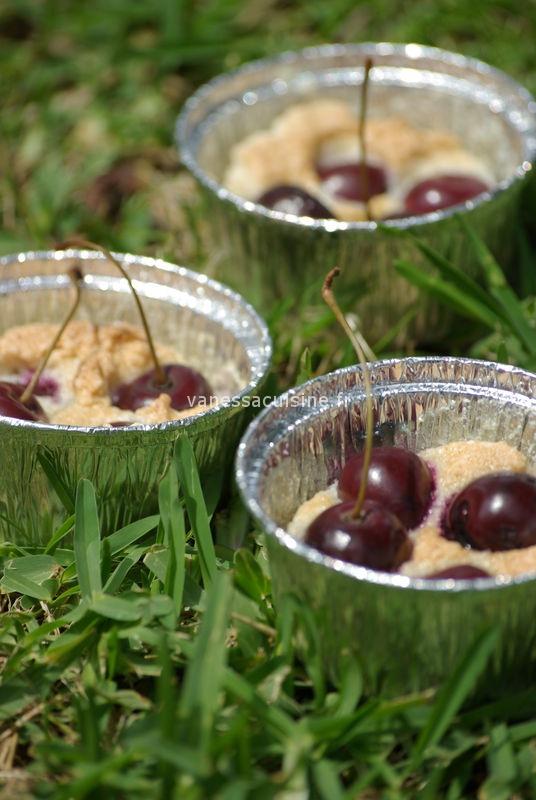 recette de Bouchées amandines aux cerises du jardin