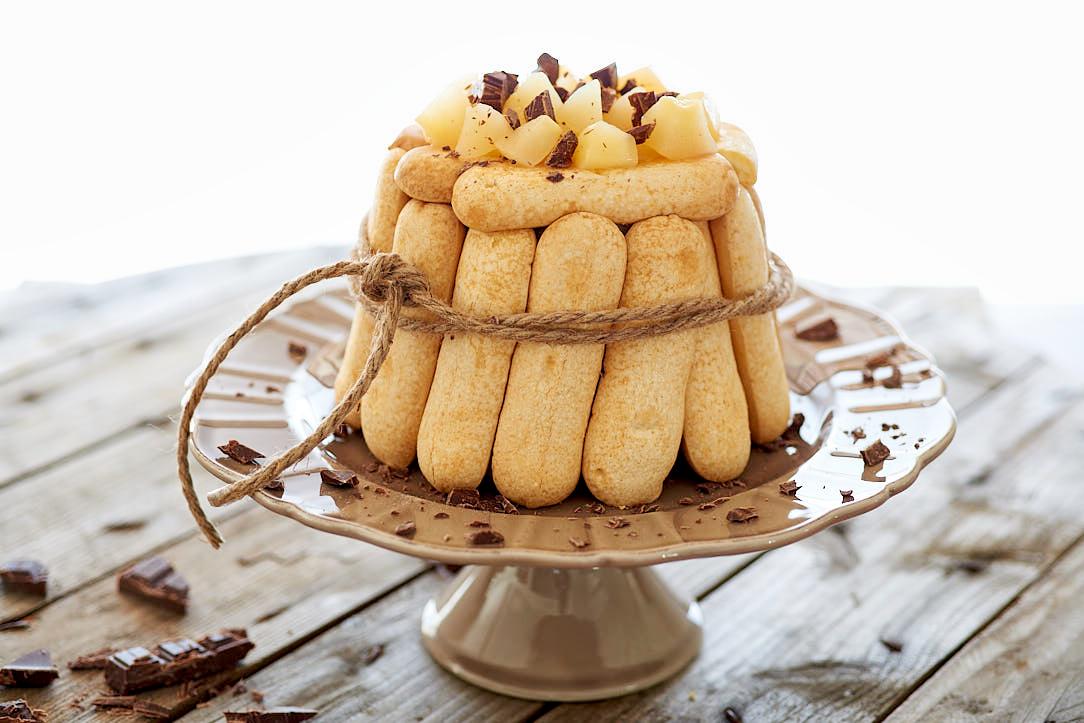 photo culinaire de Charlotte poire chocolat