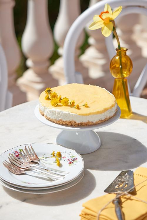 recette de Cheesecake sans cuisson et curd au citron