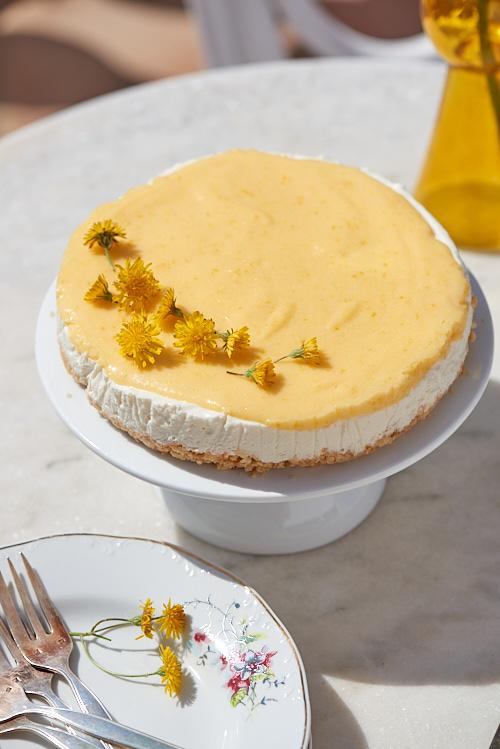 photo culinaire de Cheesecake sans cuisson au citron