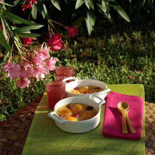 recette de clafoutis aux abricots et aux framboises