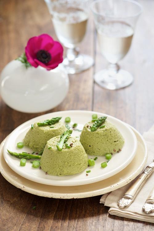 recette de Petits flans d'asperges vertes