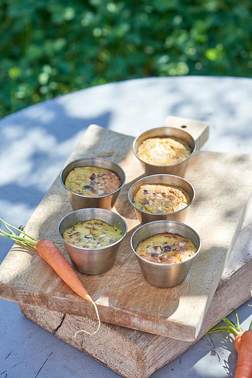 recette de Flans aux carottes, noisettes et garam masala