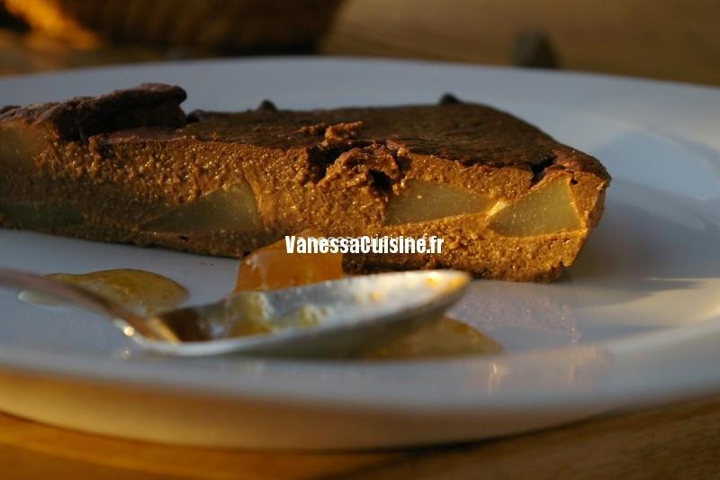 photo culinaire de Gâteau léger chocolat poires