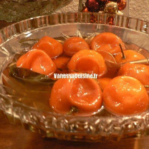 recette de Mandarines confites au rhum
