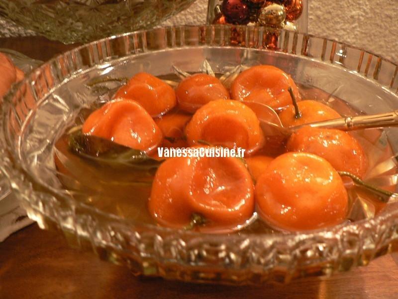 mandarines confites rhum