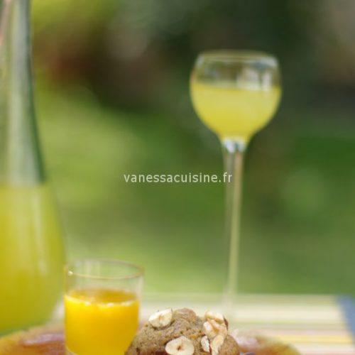 recette de Moelleux à la noisette et à la farine de châtaigne, miel d'orange en coulis