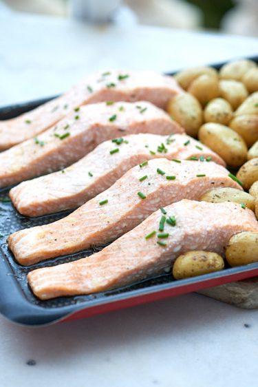 recette de pavés de saumon au four