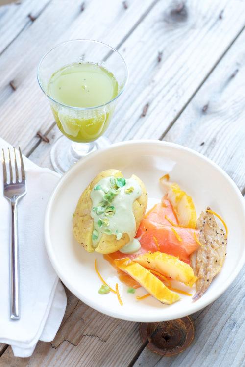 photo culinaire de Pomme de terre coco wasabi