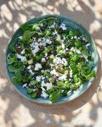 recette de Salade de mâche et lentilles à la féta