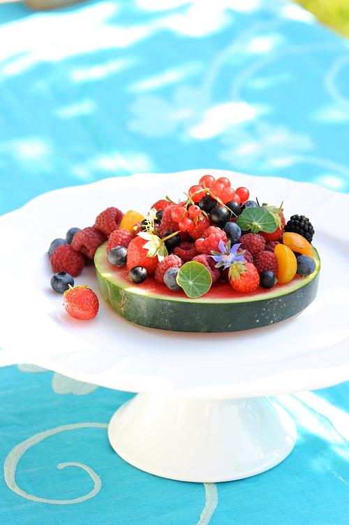 photo culinaire de Tarte pastèque et fruits d'été